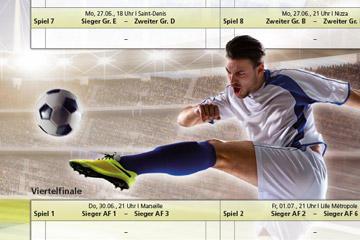Spielplan für die Fußball EM 2016