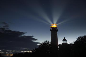 Leuchtturm Arkona bei Nacht