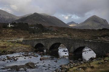 Sligachan und die Black Cuillin Mountains, Skye