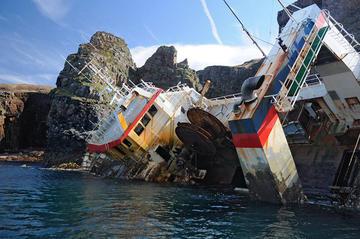 Trawlerwrack, Insel Rum ...