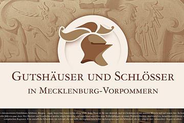 Ausstellungsplakat Gutshäuser und Schlösser in Mecklenburg-Vorpommern