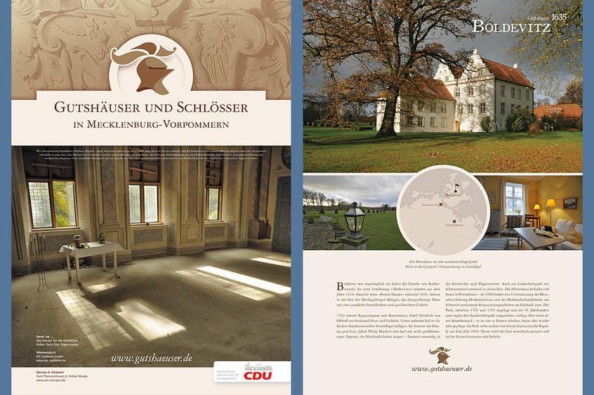 Gutshäuser und Schlösser in Mecklenburg-Vorpommern, Ausstellungsplakat