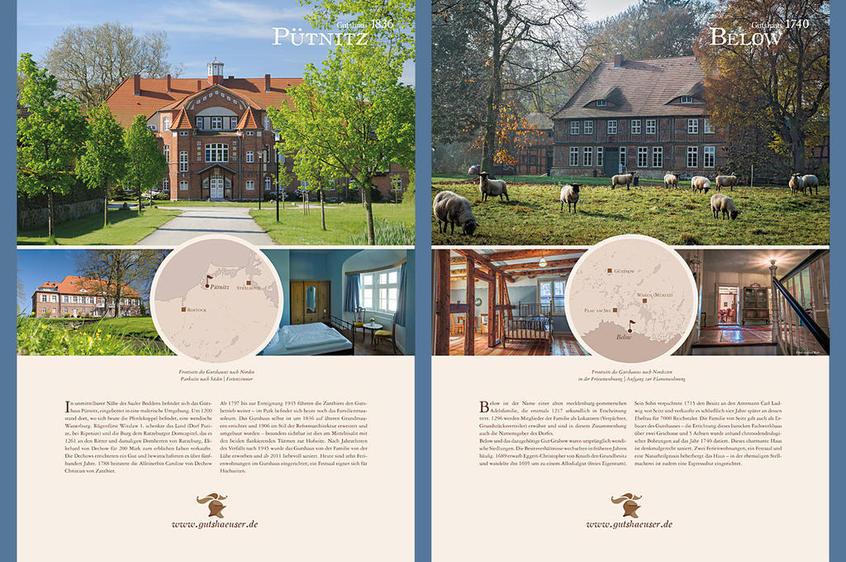 zwei weitere Ausstellungstafeln: Pütnitz und Below