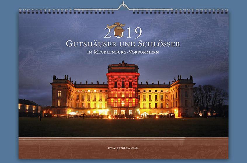 Gutshauskalender 2019, A3, Schloss Ludwigslust