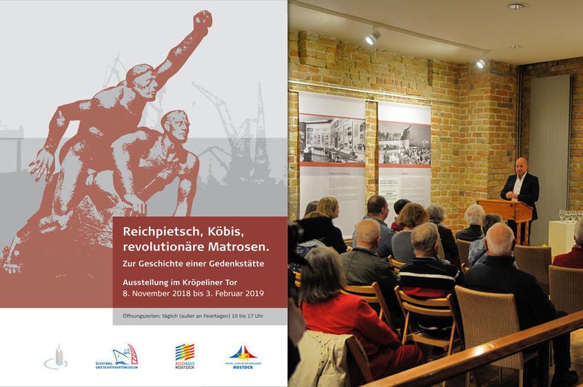 Ausstellungsplakat, Eröffnungsrede im Kröpeliner Tor (Rostock)