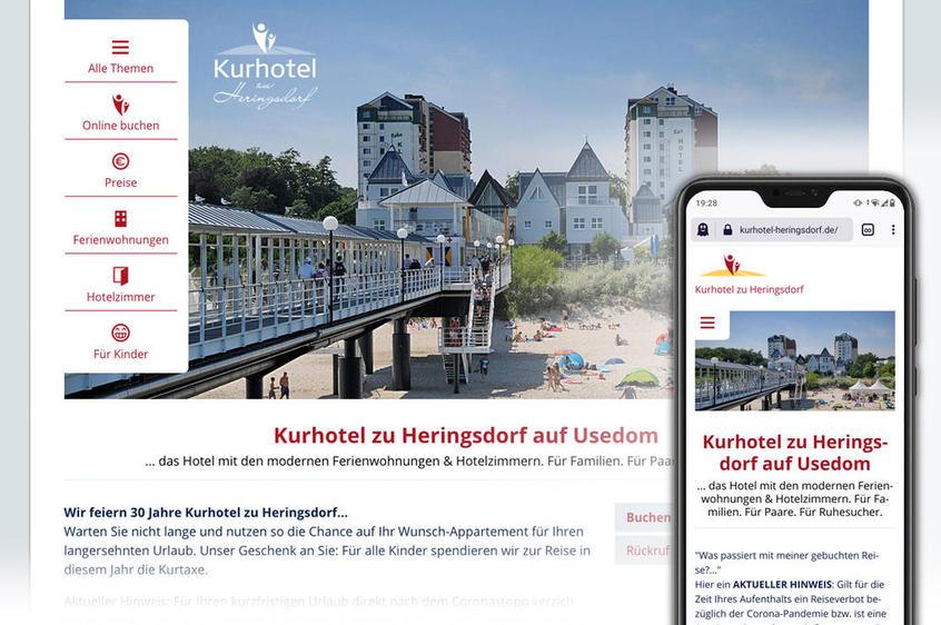 Kurhotel zu Heringsdorf – responsives Webdesign