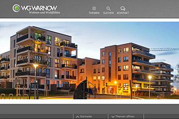 WG-Warnow, Rostock; responsive Website 2020