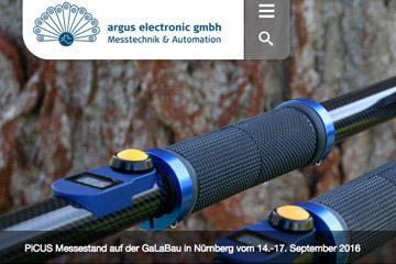 argus-electronic; responsive Website