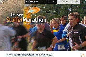 Ostsee Staffelmarathon; Website 2017