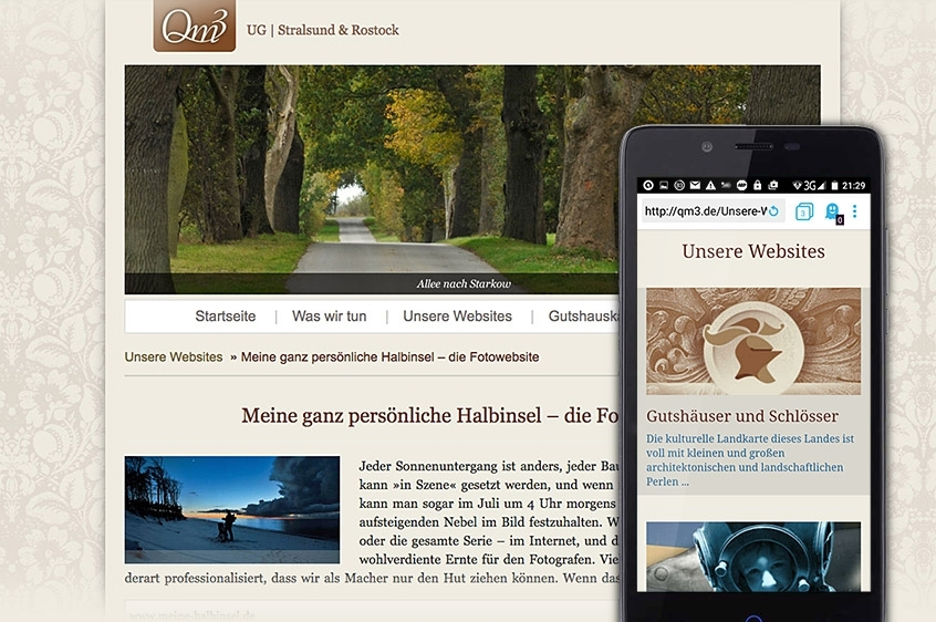 QM3 responsive Website