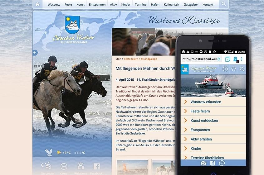 Wustrow: Website und Web-App